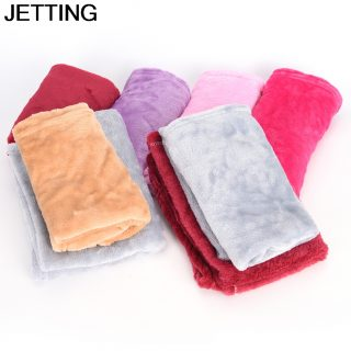 HOT 1 Pcs shower Bed Blanket Fleece Bath Towel Blankets Throw Size 50cm * 70cm Machine Washable Home Textile Solid For Bathroom