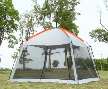 High Quality Single Layer 5-8 Person Family Party Gardon Beach Camping Tent Gazebo Sun Shelter Pergola Mosquito Net 2 Colors
