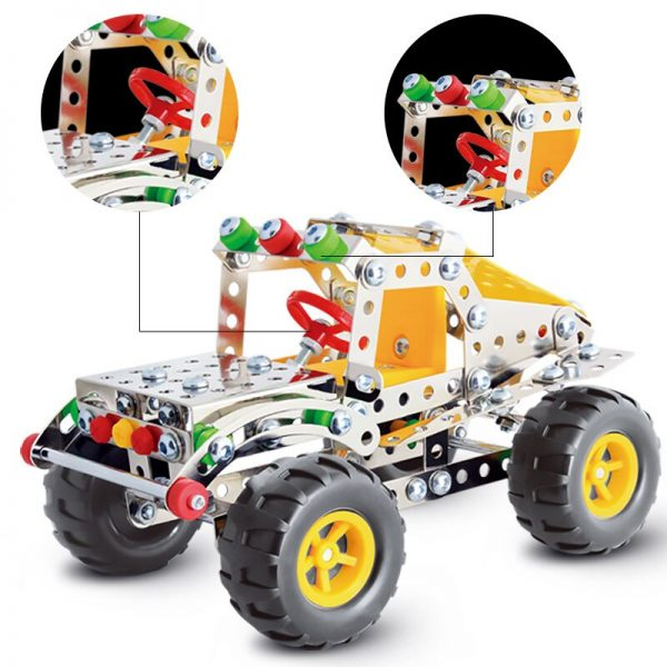 213pcs Steel Block Toys Kids Car Toys SUV Power Vehicles Baby Boys Super Car For Children Gift Toys (SUV)