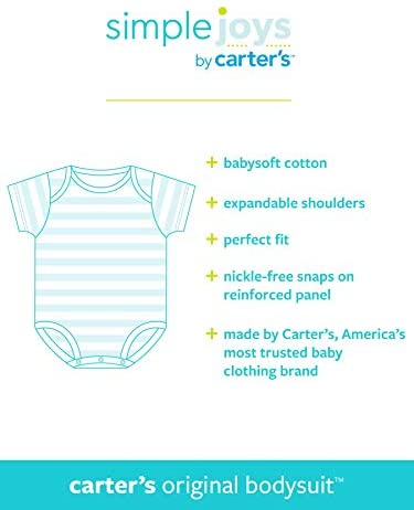 Simple Joys by Carter's Baby 6-Pack Short-Sleeve Bodysuit
