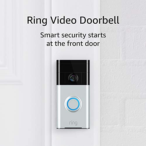 Ring Video Doorbell (1st Gen) – 720p HD video, motion activated alerts, easy installation – Satin Nickel