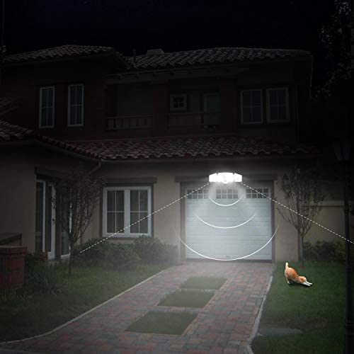 Amico 3500LM LED Security Light, 30W Super Bright Outdoor Flood Light, ETL- Certified, 5000K, IP65 Waterproof, 3 Adjustable Heads for Garage, Patio, Garden, Porch&Stair(White Light)
