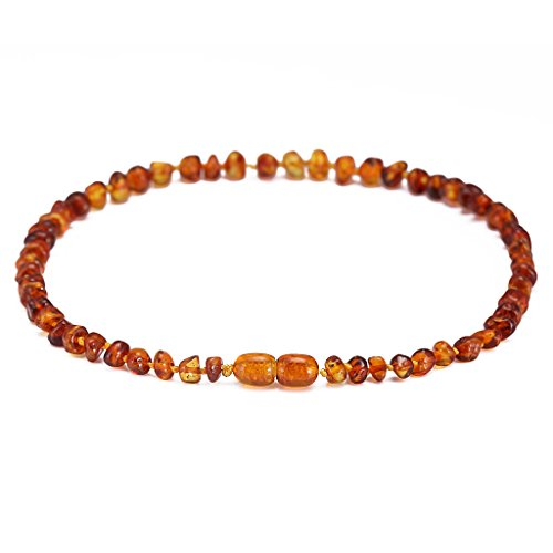 Amber Necklace Gift Set(Unisex)(Cognac)(13 Inches) - Handcrafted, Lab-Tested, Authentic Amber