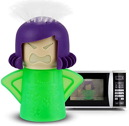 Angry Mama Microwave Cleaner Microwave Oven Steam Cleaner Doll for Home, Kitchen and Office by AODOOR, Easily Cleans The Crud in Minutes