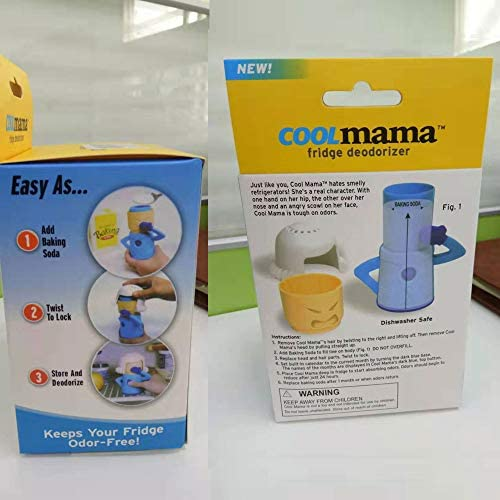 Chilly Mama Baking Soda Fridge and Freezer Odor Absorber & Freshener, Cool Mama Refrigerator Deodorizer Freezer Odor Eliminator Fridge Deodorizing Cleaner Household Kitchen Gadget Tools