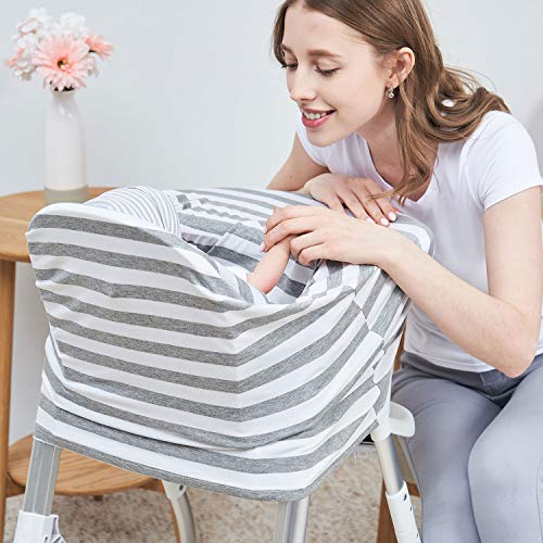 PPOGOO Nursing Cover for Breastfeeding Super Soft Cotton Multi Use for Baby Car Seat Covers Canopy Shopping Cart Cover Scarf Light Blanket Stroller Cover