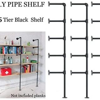 Industrial Retro Wall Mount Iron Pipe Shelf,DIY Open Bookshelf,Hung Bracket,Home Improvement Kitchen Shelves,Tool Utility Shelves, Office Shelves,Ceiling Mount Shelf Shelves