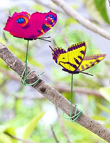 Butterfly Stakes, 50pcs 11.5inch Garden Butterfly Ornaments, Waterproof Butterfly Decorations for Indoor/Outdoor Yard, Patio Plant Pot, Flower Bed, Christmas Decoration