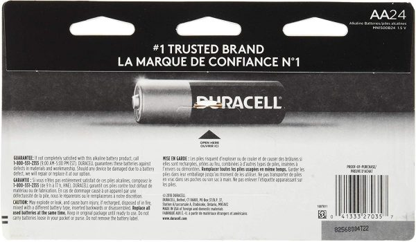 Duracell - CopperTop AA Alkaline Batteries - long lasting, all-purpose Double A battery for household and business - 24 Count