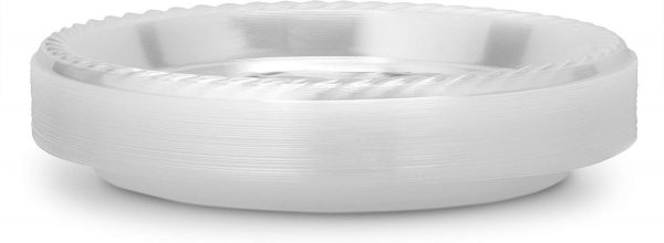 Laura Stien Clear Plastic 9 Inch Plates Pack Of 40