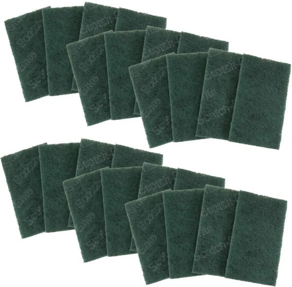Scotch-Brite (24 Pack) 3M Heavy Duty Scour Pads For Tough Cleaning Home Kitchen Dining Bathroom